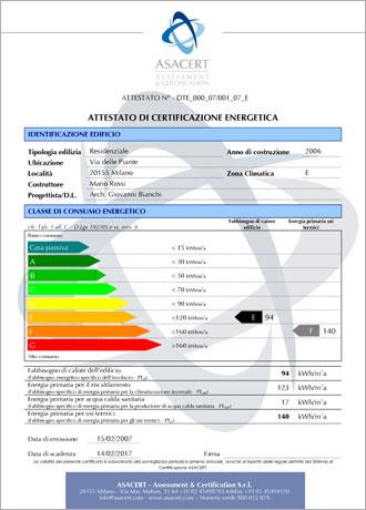 attestato certificazione